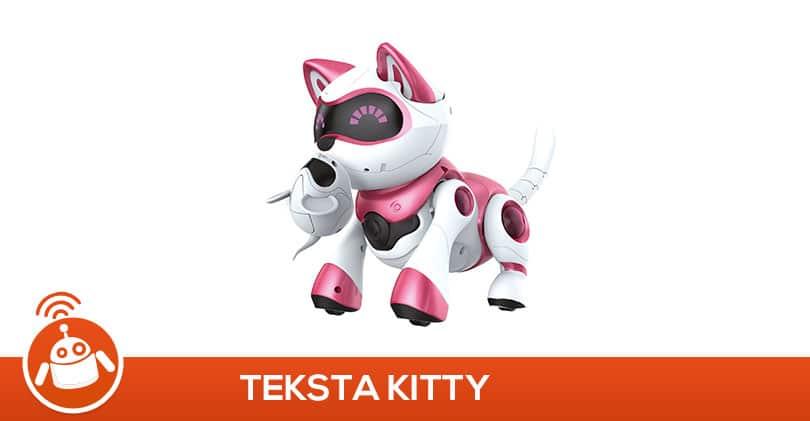 Ma fille a testé le robot chat Teksta Kitty rose