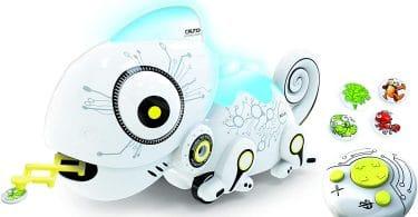 Un jouet robot caméléon